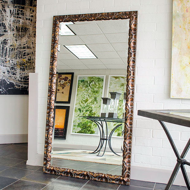 Custom sized framed mirrors bathroom mirrors large for Decorative floor length mirrors