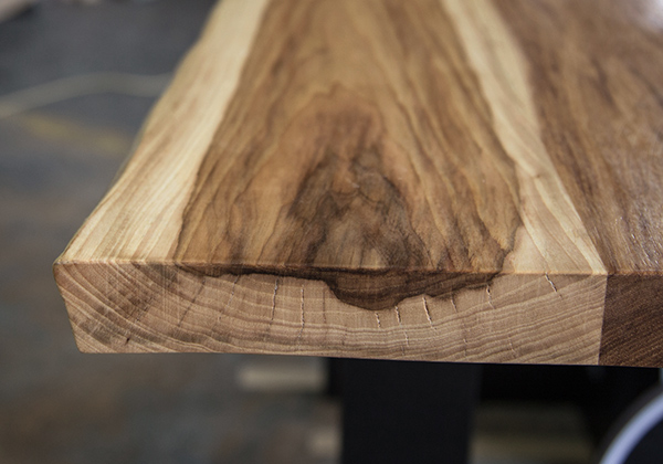 Hudson Custom Sized Table Top Natural Pecan Hickory