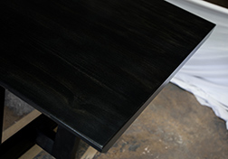 Black stained table