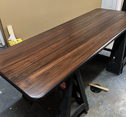 Custom round corners dining table top
