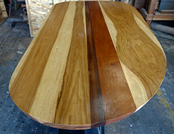 Another view of the customer round shape Murphy table