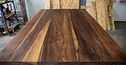 Custom size walnut table top