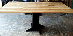 Custom pedestal base on Trinity table top