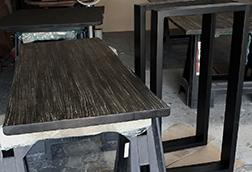Counter height rustic bar table for restaurant