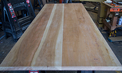 Custom size unfinished cherry table top