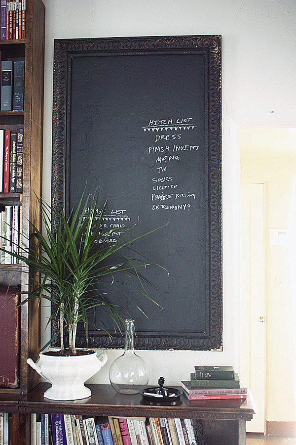 Pictures of custom size and framed chalkboards