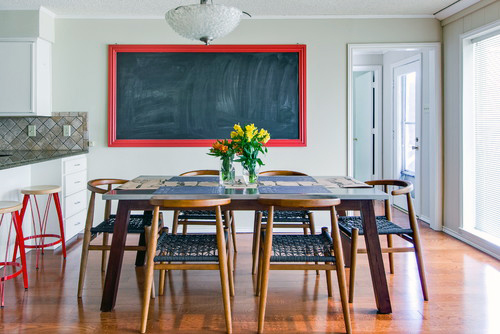 Chalkboard On Red Frame
