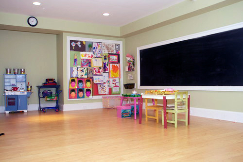 Framed Chalkboard For Kids Playroom