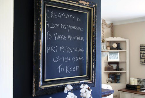 Antique Frame Chalkboard