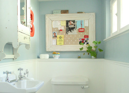 Corkboard In Bathroom