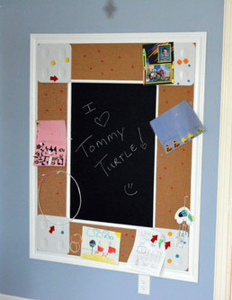 Custom Corkboard and Chalkboard Combo