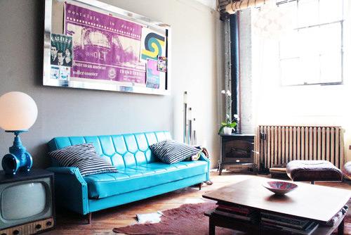 silver frame corkboard in living room