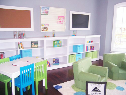 Playroom Corkboard and Chalkboard