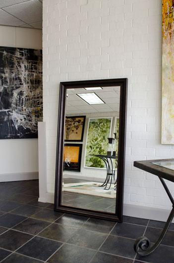 Espresso frame floor mirror
