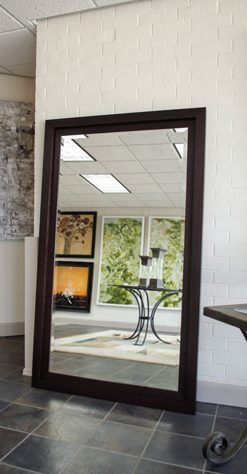Dark espresso framed mirror