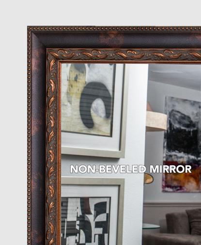 Mal 0458 brown framed mirror large mirror bathroom for Custom framed mirrors