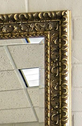 Gold Silver Frame Mirror