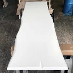 Charlotte Table - White table top with live edge cut