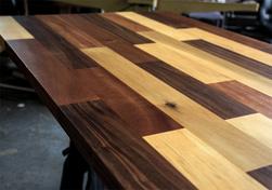Havana   Multi Wood Table Top With Walnut Poplar Mahogany