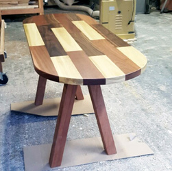 Havana Table - Custom oval Havana table top with mahogany base