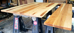 Hudson Table - Pecan hickory table tops