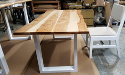 Hudson Table - Custom height hickory table with custom height chair