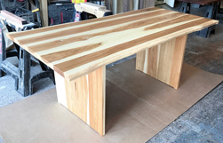 Hudson Table - Rustic hickory table top and base