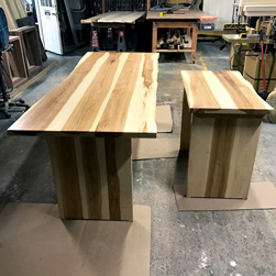 Hudson Table - Custom height hickory tables special request by customer