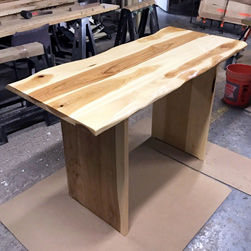 Hudson Table - Custom height hickory table special request by customer