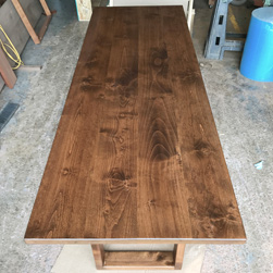 Florence Table - Long 108x36 alder table top and base