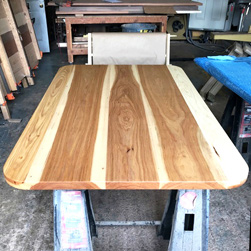 Austin Table - Hickory table top with optional round corners
