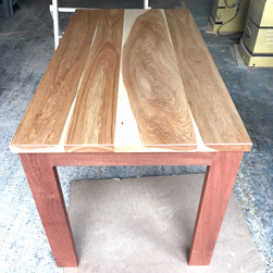 Austin Table - Hickory table top on mahogany base