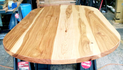 Kyle Table - Oval hickory table top