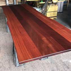 Bandera Table - Large 12 foot mahogany table top with optional live edge cut