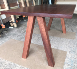 Bandera Table - Mahogany table and base