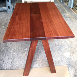 Carson Table - Mahogany table and base