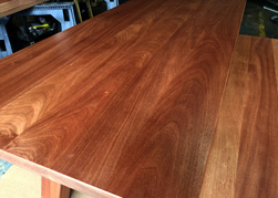 Carson Table - Mahogany table and matching bench set for a custom home in Florida
