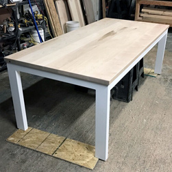 Sedona Table - Maple table top with base and apron in white finish