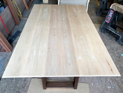 Sedona Table - Maple table top with bevel cut and walnut base