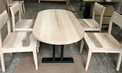 Glendale Table - Oval maple table with matching maple chairs