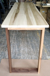 Cleveland Table - Bar height poplar table with walnut base