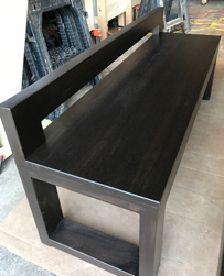 Bronx Table - Black walnut finish bench