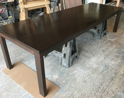 Boston Table - Large 12 foot bronze walnut finish table and base