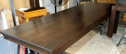 Boston Table - Bronze walnut finished table top