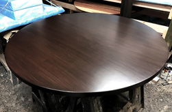 Cambridge Table - Round table with bronze walnut finish