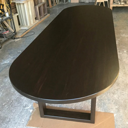 Springfield Table - Large oval table and base in bronze walnut finish