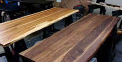 Garland Table - Walnut table top and hickory table top