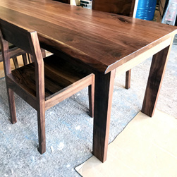 Garland Table - Walnut table set with matching chairs
