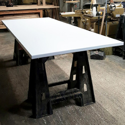 Malibu Table - Large white finish table top for a hotel lobby