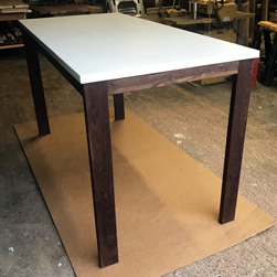 Malibu Table - White table top on walnut base